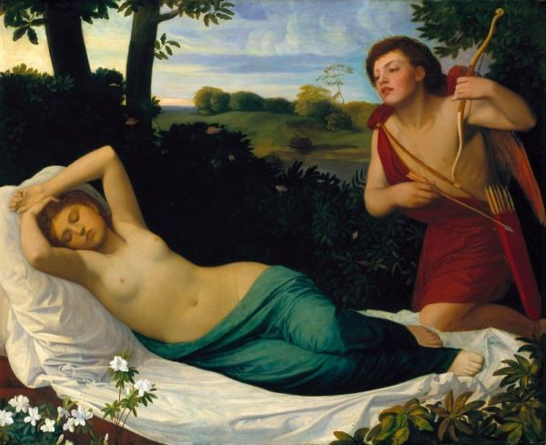 Alphonse Legros - Cupid and Psyche
